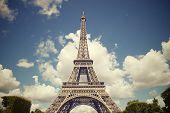 Eiffel Tower view in Paris, France.