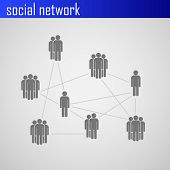 Infographic elements for web or print design with social network icons