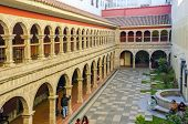 LA PAZ, BOLIVIA, MAY 8, 2014:  Convent of San Francisco, the cloister