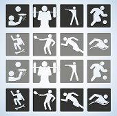 Sport set. Players. Editable Vector illustration.