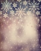 Beautiful vintage Christmas background, abstract festive border, beautiful snowflakes illustration, invitation card for New Year celebration