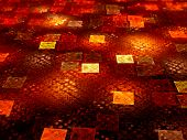 Glowing Fiery Squares
