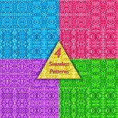 Mosaic vector seamless patterns.