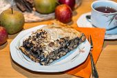 Teatime With Apple And Poppy Seed Strudel
