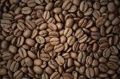 Roasted Brown Coffee, Background Texture, Close-up