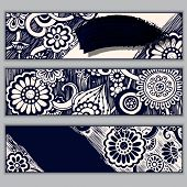 Paisley batik background. Ethnic doodle cards.