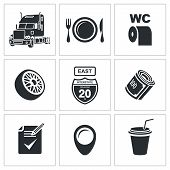 Vector Truck Icon Set