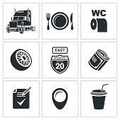 Vector Truck Icon Set