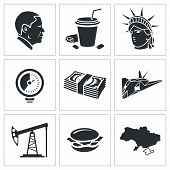 United States Vector Icons Set