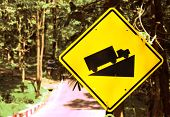 Ramp traffic signs beside country road