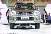 Nonthaburi - December 1: Mitsubishi New Triton 2014 Car Display At Thailand International Motor Expo