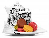 Macarons And Tea Set