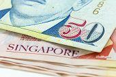 Macro Singapore Dollars Banknote