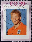 HOLLAND - CIRCA 1996: A stamp printed in Netherladns shows Dirk Kuyt circa 1996