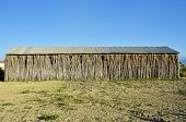 image of tobacco barn  - Detail of an old tobacco farm facade - JPG