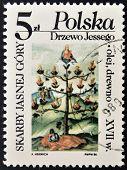 POLAND - CIRCA 1986: A stamp printed in Poland shows skarby jasnej gory circa 1986
