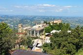 View Of The Fortress Of San Marino. The Republic Of San Marino