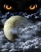 stock photo of werewolf  - Dark series  - JPG