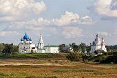 Beautiful view of the Suzdal Kremlin and Ilyinsky church