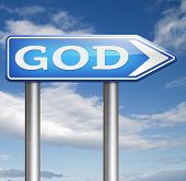 stock photo of godly  - God and salvation search road to heaven religion gods way belief and praise the lord  - JPG