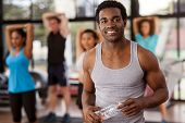 Young African-american Man In A Gym