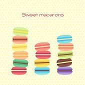 Card with sweet macarons