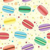 Seamless pattern with macarons