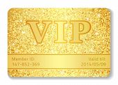 stock photo of compose  - Exlusive VIP club card composed from golden glitters - JPG