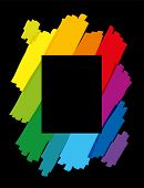 Rainbow Colored Brush Strokes Vertical