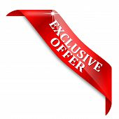 Red Corner with the inscription exclusive offer