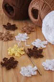 Colorful Crochet Snowflakes For Christmas And New Year Decoration