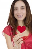 Valentines Day Woman With A Red Heart