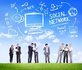 Social Network Social Media Business People Communication Concept