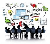 Responsive Design Internet Web Online Business Meeting Concept