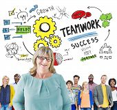 Teamwork Team Together Collaboration Diversity People Leadership Concept