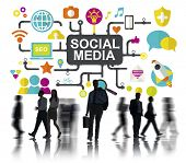 foto of social system  - Social Media Social Networking Connection Global Concept - JPG