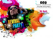 picture of clubbing  - Disco Night Club Flyer layout with DJ shape and music themed elements to use for Event Poster - JPG