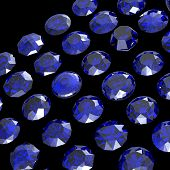 picture of refraction  - Jewelry Background with  gemstones - JPG