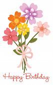 pic of bouquet  - Illustration of a flower bouquet isolated over white - JPG