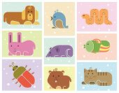 picture of gerbil  - Zoo animals icons set  - JPG