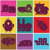 foto of gerbil  - Zoo animals icons  - JPG