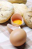 Постер, плакат: яйца и хлеб