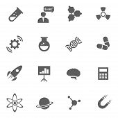 picture of chemistry  - Set of science chemistry medicine vector black icons - JPG