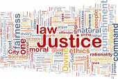 stock photo of justice law  - Background concept wordcloud of justice law - JPG