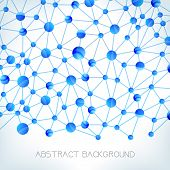 stock photo of molecules  - Molecule background - JPG