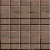 foto of paving  - Brown Paving Slabs Lined Rectangles of the Single Size - JPG