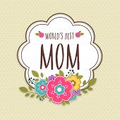 picture of mother-in-love  - Colorful flowers decorated sticker - JPG