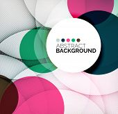 stock photo of composition  - Colorful circles modern abstract composition with shadows and text - JPG