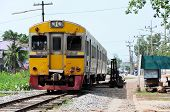 picture of railcar  - Diesel railcar is coming to the old station - JPG