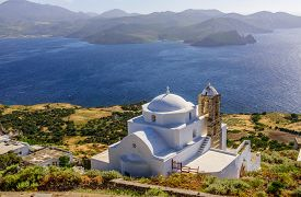 picture of greek-island  - A typical view of the Greek Islands  - JPG